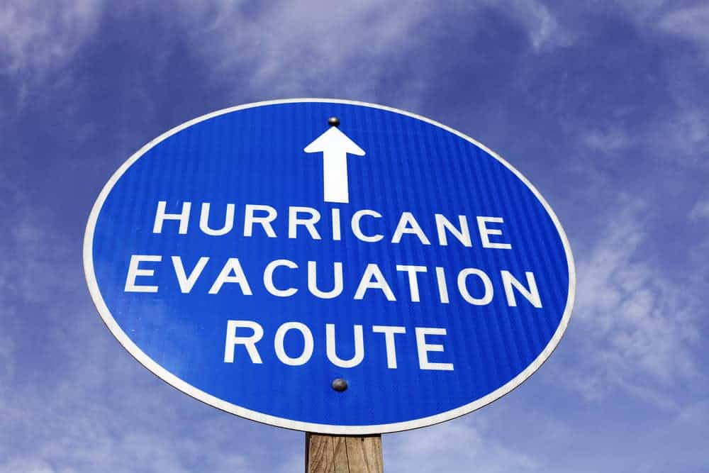 hurricane evaluation route