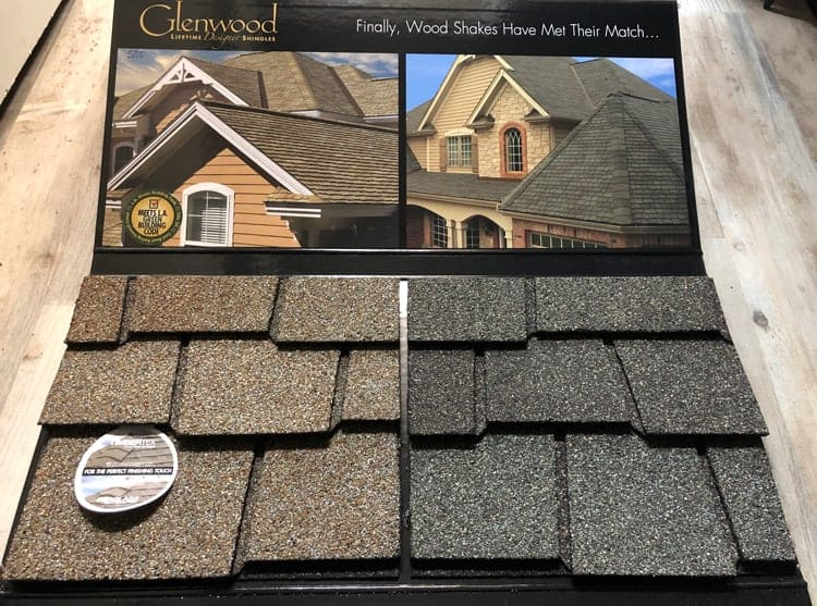 roofing shingles samples by GAF